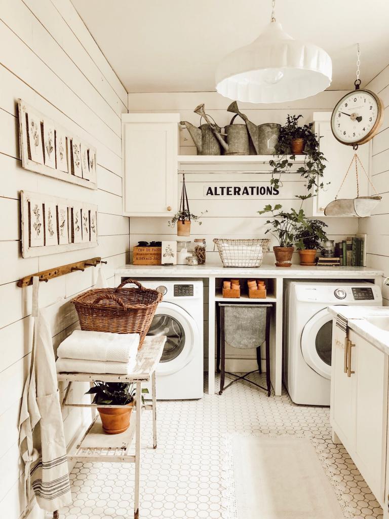 Laundry room makeover Match the rest of your home  Image Source: Decoist - https://www.decoist.com/farmhouse-laundry-room-design-ideas/?chrome=1
