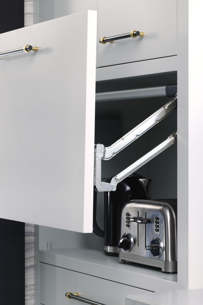 store appliances in cabinets easily