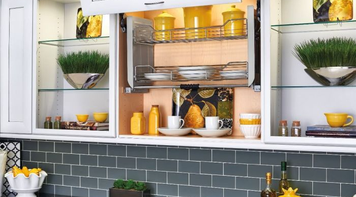 pull-down shelving system