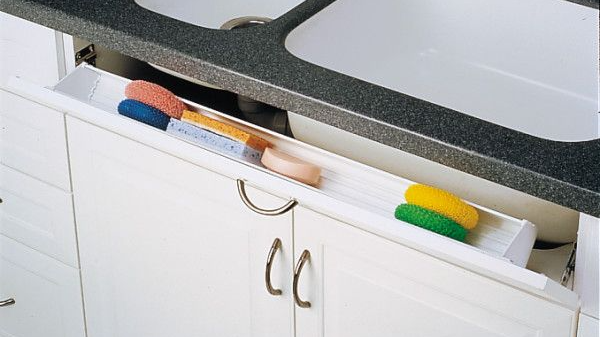 tip out tray cabinet organization