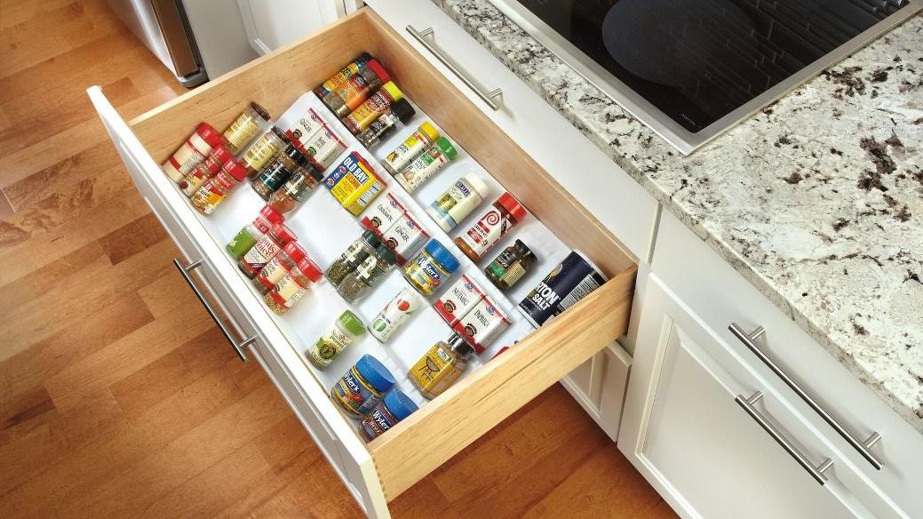 spice tray cabinet organization