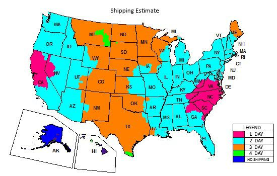 Shipping Territory and delivery times